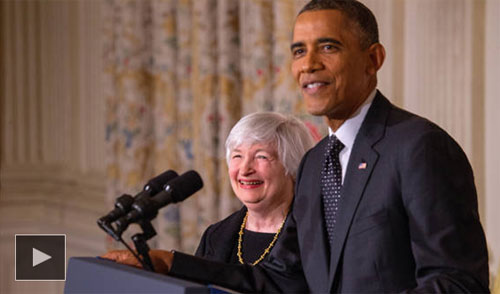 President Obama announces Janet Yellen as Chair of Fed