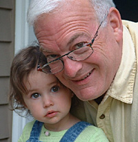 Roman with granddaughter Isabella, 2