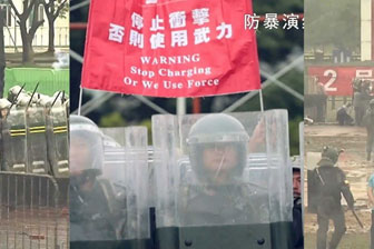 "troops are heard telling rioters to ""stop charging, or we use force"""
